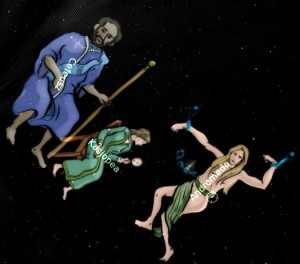 Mitologia grecka na niebie: Cefeusz, Kasjopea, Andromeda