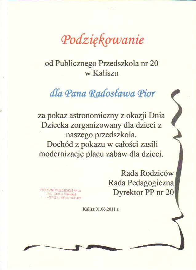 Podziekowanie-Kalisz