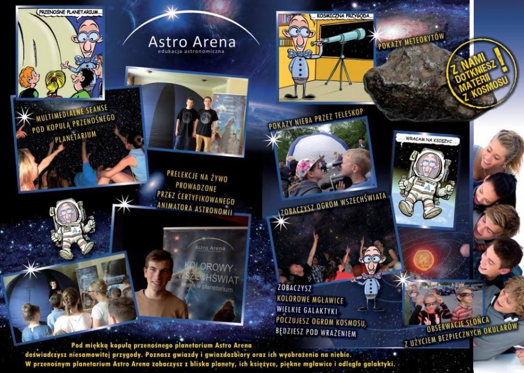 Przenośne planetarium Astro Arena zaprasza w Kosmos