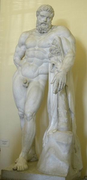 Posąg Herkulesa Farnezyjskiego - Ermitaż (Wikimedia)