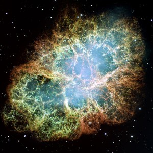 Mgławica Krab - pozostałość po wybuchu supernowej w 1054 r.