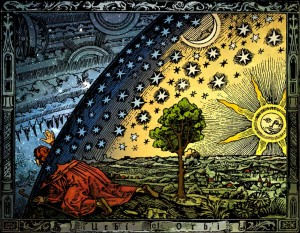 Wędrowiec na krańcu świata - średniowieczne wyobrażenie ograniczenia Wszechświata