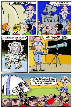 Planetarium mobilne - Planetarium przenoÅ›ne (komiks)